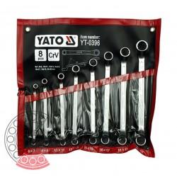 Набір ключів накидних вигнутих 6-22 мм / 8 шт (YATO)   YT-0396