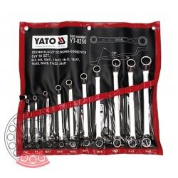 Набір ключів накидних вигнутих 6-27 мм / 10 шт (YATO)   YT-0250