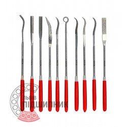 Diamond needle file set 3х140х25 mm / 10 pcs (YATO) | YT-6145