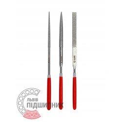 Diamond needle file set 3х140х50 mm / 3 pcs (YATO) | YT-6143