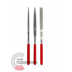 Diamond needle file set 3х180х70 mm / 3 pcs (YATO) | YT-6155