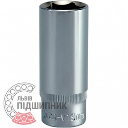 "Hexagonal deep socket, 3/8"" inch, 19 mm (YATO) 