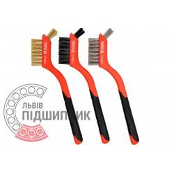 Plastic handle wire brush set 180 mm / 3 pcs (YATO) | YT-6351
