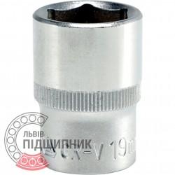 "Шестигранна коротка голівка 1/2\"" дюйм / 19 мм (YATO) | YT-1212"