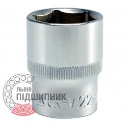 "Шестигранна коротка голівка 1/2\"" дюйм / 22 мм (YATO) | YT-1215"