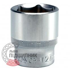 "Шестигранна коротка голівка 1/2\"" дюйм / 27 мм (YATO) | YT-1218"