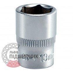 """Hexagonal socket 1/4\"""" inch / 13 mm (YATO)   YT-1412"""