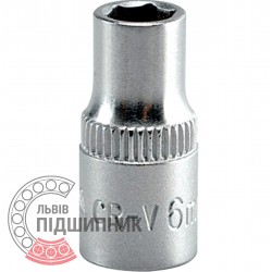"Шестигранна коротка голівка 1/4\"" дюйм / 6 мм (YATO) | YT-1405"