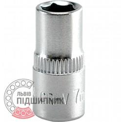 "Шестигранна коротка голівка 1/4\"" дюйм / 7 мм (YATO) | YT-1406"