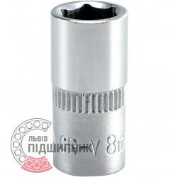 "Шестигранна коротка голівка 1/4\"" дюйм / 8 мм (YATO) | YT-1407"
