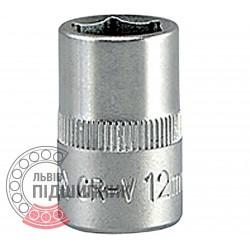 "Шестигранна коротка голівка 3/8\"" дюйм / 12 мм (YATO) | YT-3807"