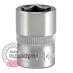 "Шестигранна коротка голівка 3/8\"" дюйм / 14 мм (YATO) | YT-3809"
