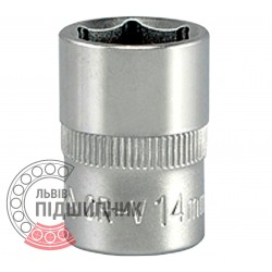 "Hexagonal socket 3/8"" inch / 14 mm (YATO) 