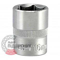 "Шестигранна коротка голівка 3/8\"" дюйм / 16 мм (YATO) | YT-3811"