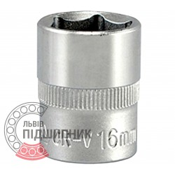 "Hexagonal socket 3/8"" inch / 16 mm (YATO) 