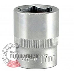 "Hexagonal socket 3/8"" inch / 17 mm (YATO) 