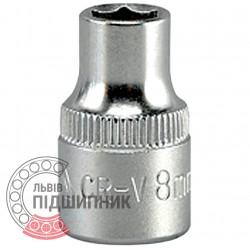 "Шестигранна коротка голівка 3/8\"" дюйм / 8 мм (YATO) | YT-3803"