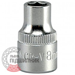 "Hexagonal socket 3/8"" inch / 8 mm (YATO) 