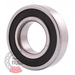 Deep groove ball bearing 6206 2RS
