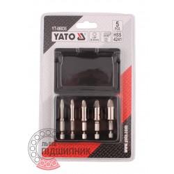 Набір гвинтових екстракторів для зламаних гвинтів 5 шт (YATO) | YT-06035