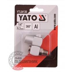 Пневматичне з'єднання на шарнірі 1/4'' дюйм (YATO) | YT-24130