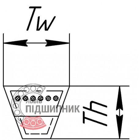 РЕМІНЬ АVX-13- 1250 GATES