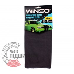 Microfiber glass cleaning cloth (gray) / 300x400 mm [Winso] | 150230