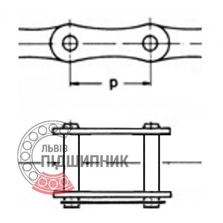 08В-1 Ланка цепи соединительная (ПР-12.7) [CPR]