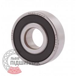 Deep groove ball bearing 6201 2RSR [Kinex ZKL]