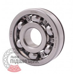 6406 N [Kinex] Open ball bearing with snap ring groove on outer ring