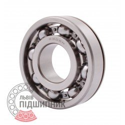 6306 N [CPR] Open ball bearing with snap ring groove on outer ring