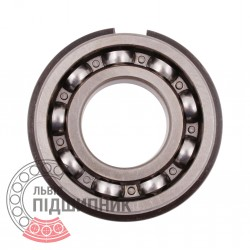 6206 N [CPR] Open ball bearing with snap ring groove on outer ring