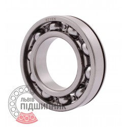 6216 N [CPR] Open ball bearing with snap ring groove on outer ring