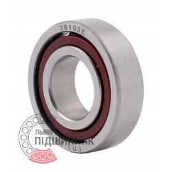 7002C   6-36102 А [GPZ-34 Rostov] Single row angular contact ball bearing