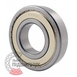 6315ZZ | 80315С17 [GPZ] Deep groove sealed ball bearing