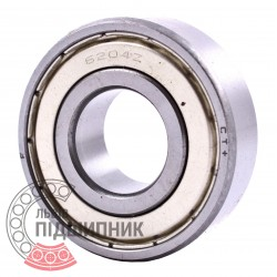 6204-2Z [CPR] Deep groove sealed ball bearing