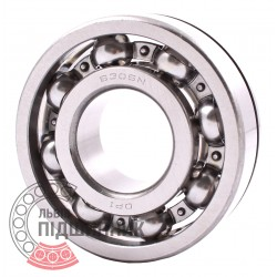 6306 N [DPI] Open ball bearing with snap ring groove on outer ring