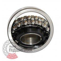 Пiдшипник кульковий дворядний сферичний 11208 (1209K+H209) [ХарП]