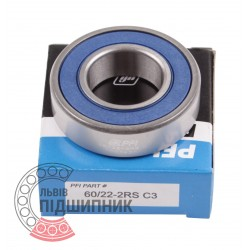 Deep groove ball bearing 60/22 2RS/C3 [PFI]