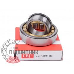 Cylindrical roller bearing NJ206 EMC3 [FBJ]