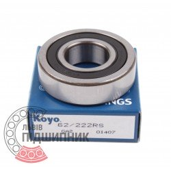Deep groove ball bearing 62/22 2RS [Koyo]