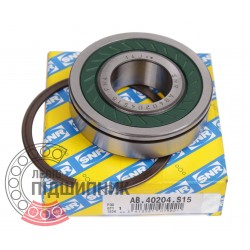 Deep groove ball bearing AB40204.S15 [SNR]