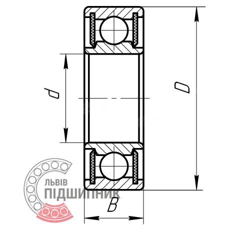 6017 2RS [GPZ-34] Deep groove ball bearing
