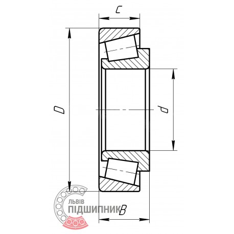 7508 | 32208-A [FAG Schaeffler] Конический роликовый подшипник