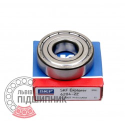 6204-2Z [SKF] Deep groove sealed ball bearing