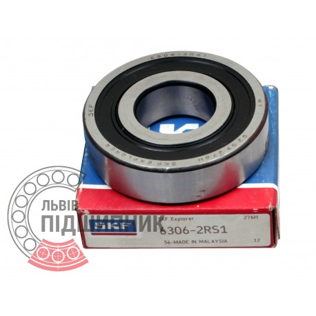 6306-2RS1 [SKF] Deep groove sealed ball bearing