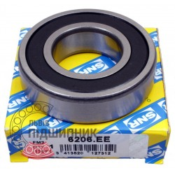 6206.EE [SNR] Deep groove sealed ball bearing