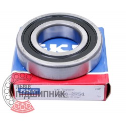 6208-2RS1 [SKF] Deep groove sealed ball bearing