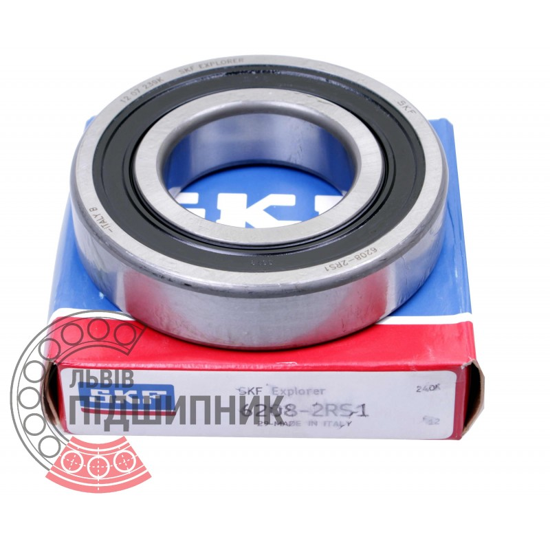 SKF 6208-2RS1 Deeep Groove Ball Bearing Double Sealed 40mm x 80mm x 18mm