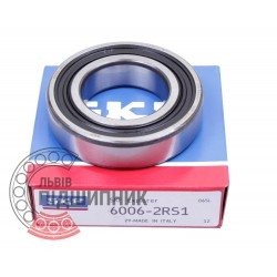 6006-2RS1 [SKF] Deep groove sealed ball bearing